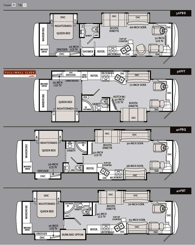 2011 monaco cayman luxury motorhome floorplans living in less