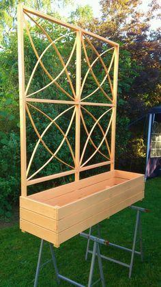 pflanzkasten mit rankhilfe bauanleitung zum selber bauen selbstgemacht pinterest pflanzen. Black Bedroom Furniture Sets. Home Design Ideas