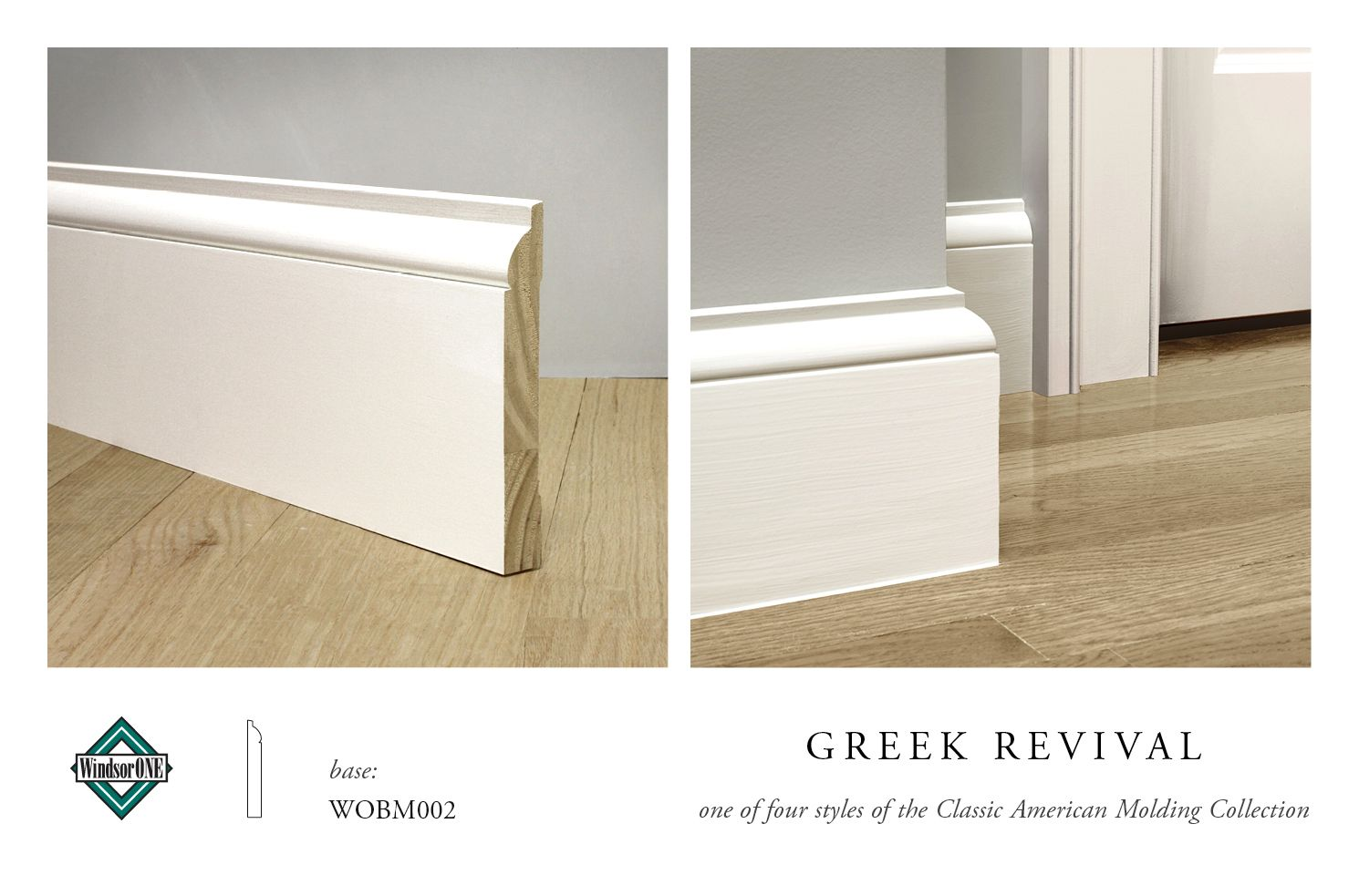 Windsorone Greek Revival Base Wobm002 Part Of The Classic American Molding Collection