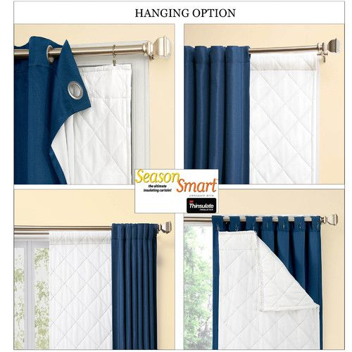 Season Smart 3m Thinsulate Insulating Curtain Liner Set Of 2