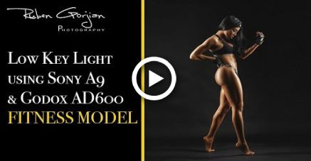 Using 2 Strip light for fitness photo shooting low key light #photography #fitness