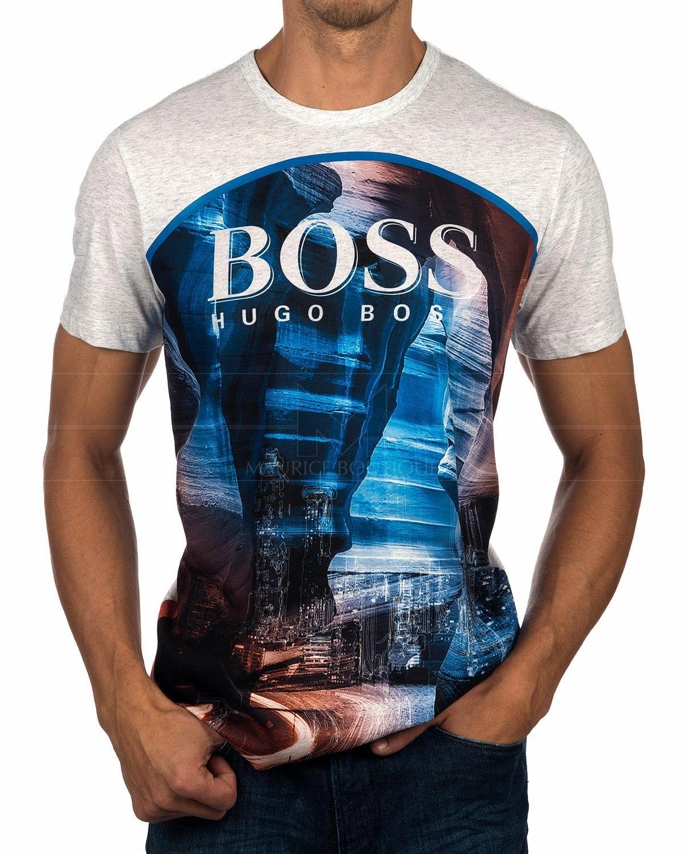 de6060f8a Camisetas Hugo Boss Gris Claro - Tee 6 in 2019 | Menswear | Hugo ...