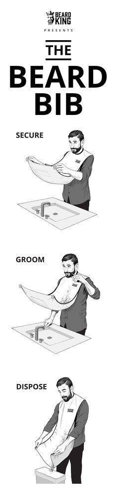 Keep your bathroom clean when you trim your beard ...