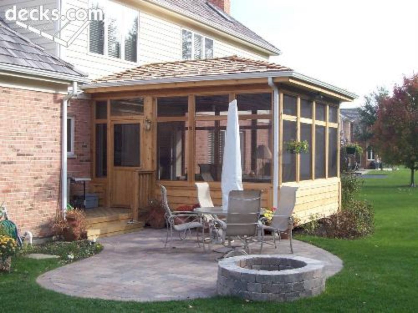 wonderful screened in porch and deck idea 32 | porch, decking and ... - Screened In Patio Designs