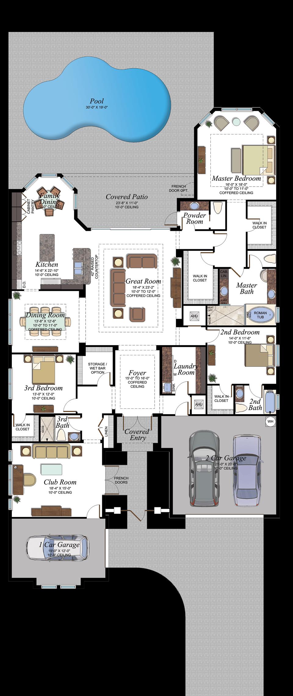 Berkeley Boca Carlyle Floorplan Mansion Plans South Florida Real Estate Florida Real Estate
