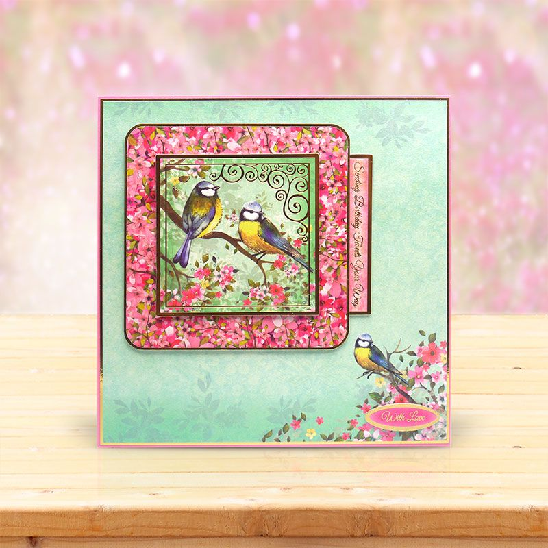 This card was made using the 'Birds of a Feather' topper set from the Shimmering Pearl Collection by Hunkydory Crafts http://www.hunkydorycrafts.co.uk/papercraft/hunkydory-collections/shimmering-pearl.html