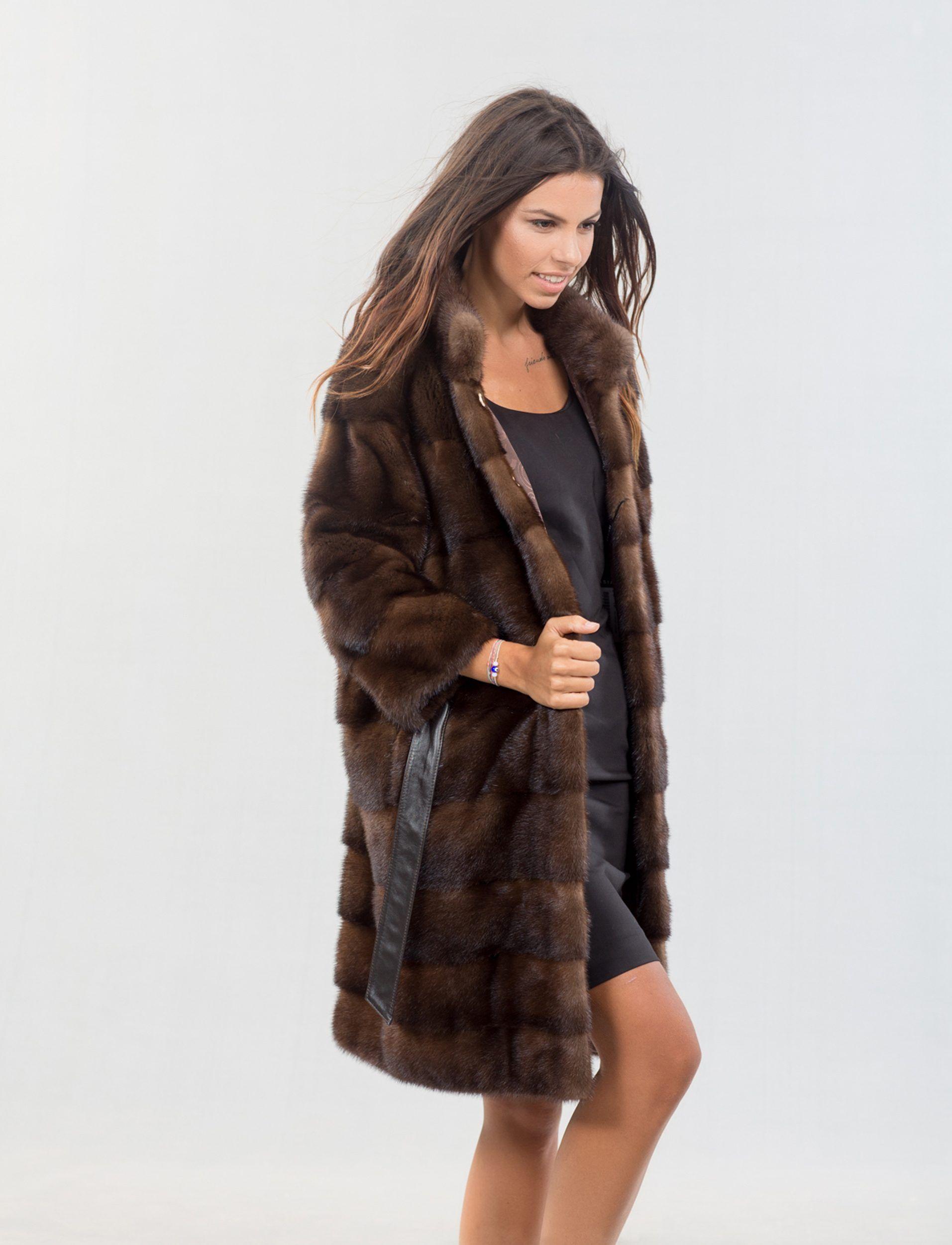 0e8d899130 Brown Mink Fur Coat With Belt #brown #mink #fur #jcoat #belt #real #style # realfur #elegant #haute #luxury #chic #outfit #women #classy #online #store