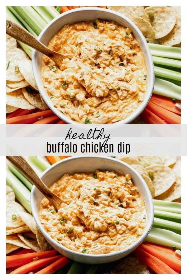 Buffalo Chicken Dip (without cream cheese) #buffalochickennachos Healthy Buffalo Chicken Dip (without cream cheese!) is paced with Greek yogurt, onion and garlic, buffalo sauce, a little bit of blue cheese, a touch of mayo, and plenty of tender shredded chicken. #buffalochickendip Buffalo Chicken Dip (without cream cheese) #buffalochickennachos Healthy Buffalo Chicken Dip (without cream cheese!) is paced with Greek yogurt, onion and garlic, buffalo sauce, a little bit of blue cheese, a touch of #buffalochickennachos