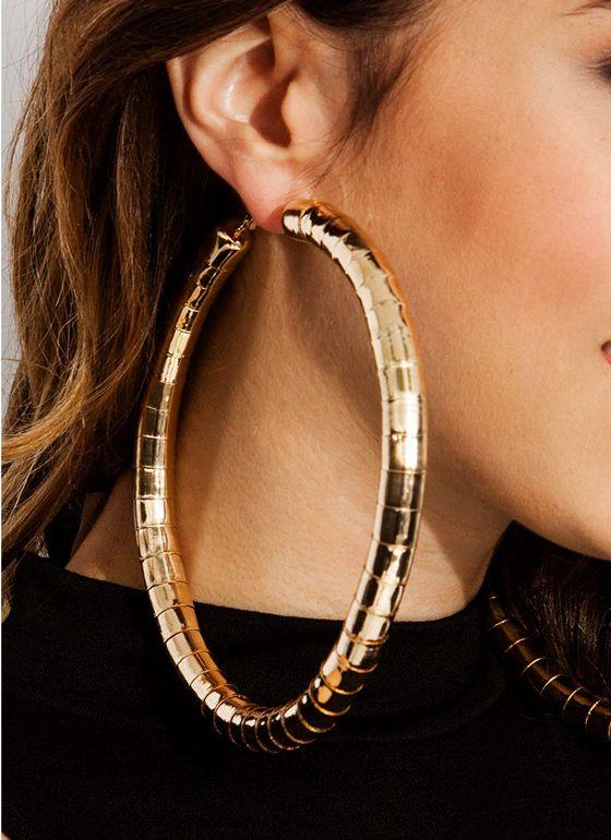 eecdfd386 big hoop earrings - Google Search | Earrings | Jewelry, Earrings ...