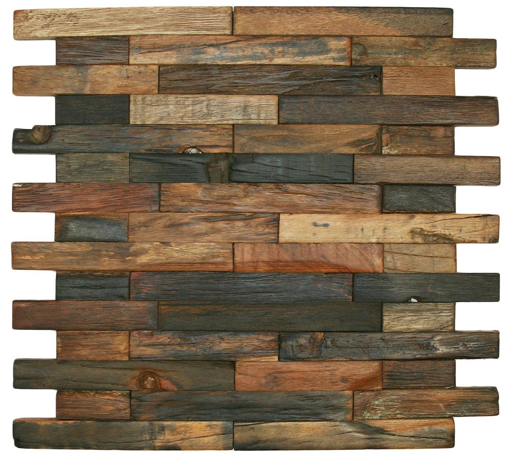 reclaimed boat wood tile interlocking bricks brick