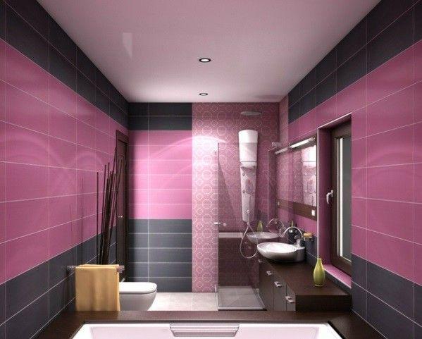 Wall Color Colours Dusky Pink Walls Tiles Black Bathroom Interior Design Top Bathroom Design Pink Bathroom Tiles