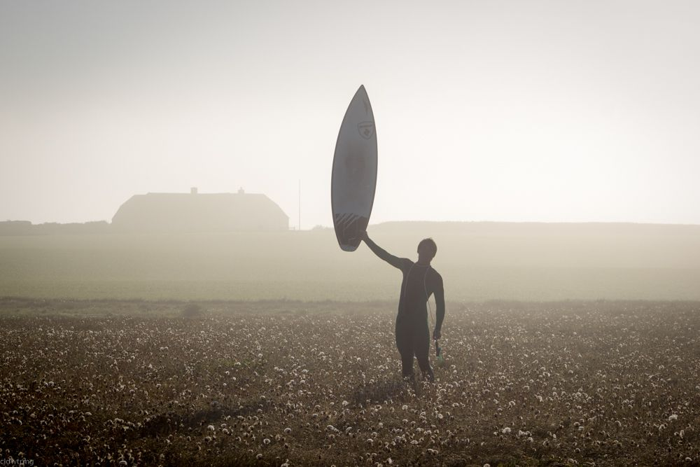 glorious start into the day with an early morning session in denmark #surfing #coldwatersurf