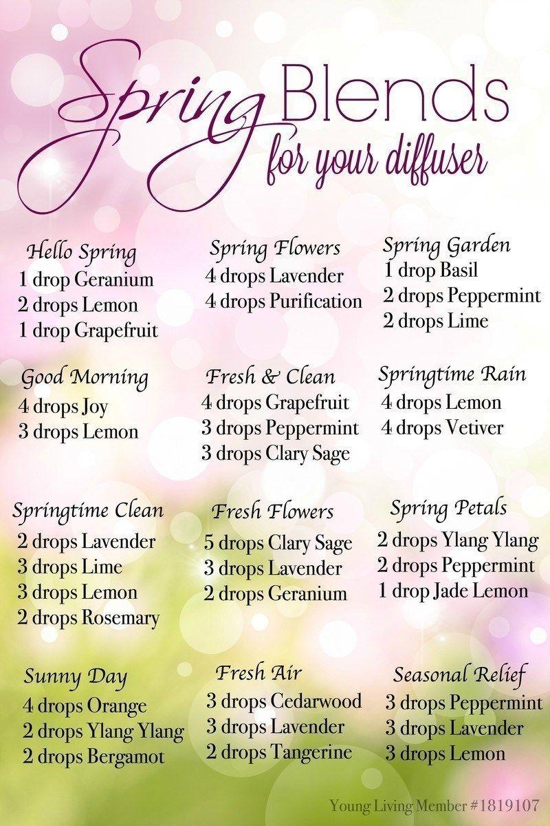 Spring Diffuser Recipes For Essential Oils Essential