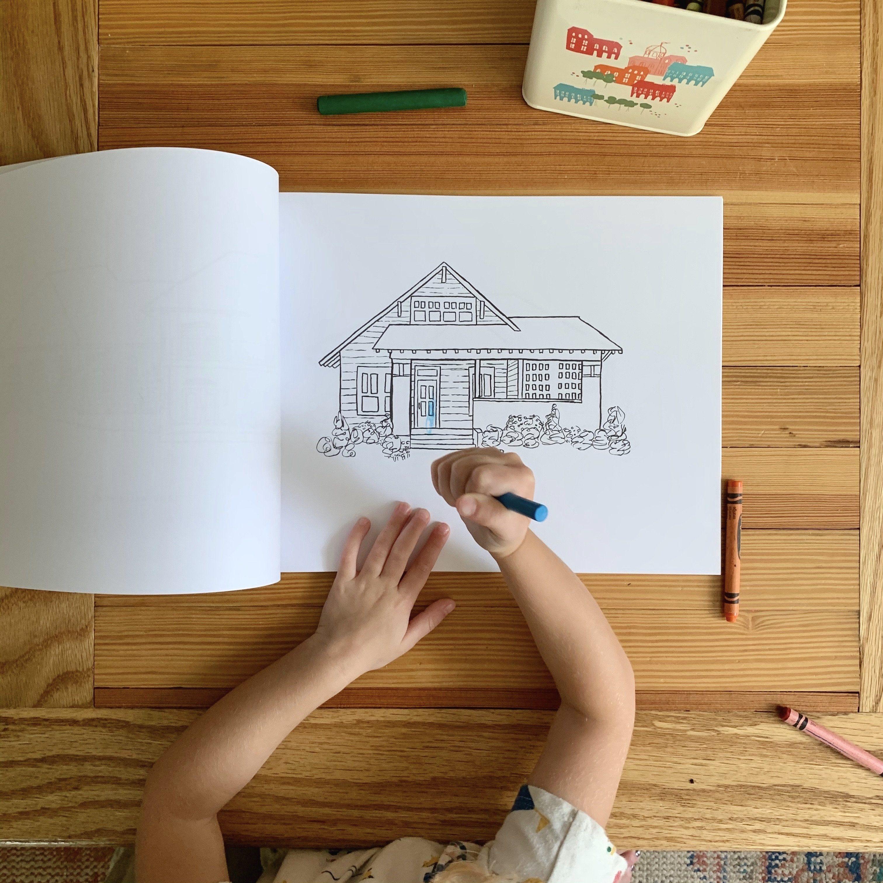 Erin S Sketchbook Coloring Book Coloring Books Sketch Book Usa Print