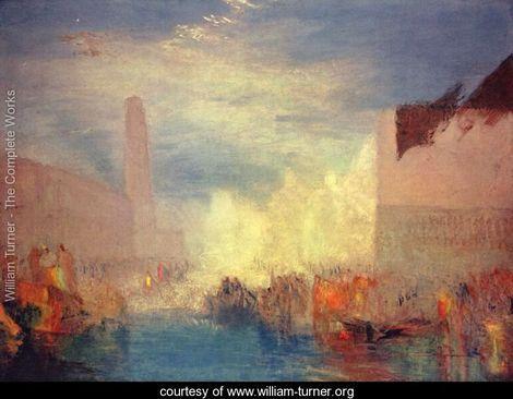 Venice. Opinion of the Piazzetta - Joseph Mallord William Turner - www.william-turner.org