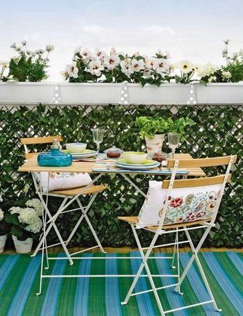 Ideas para decorar terrazas pequeñas7 Decoracion Pinterest