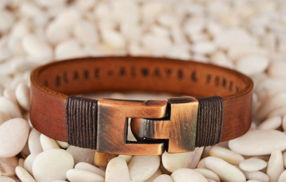30221765bbe5 Personalized leather jewelry for him Mens leather bracelet Gifts for men  Personalized Men Bracelet Gift for Boyfriend