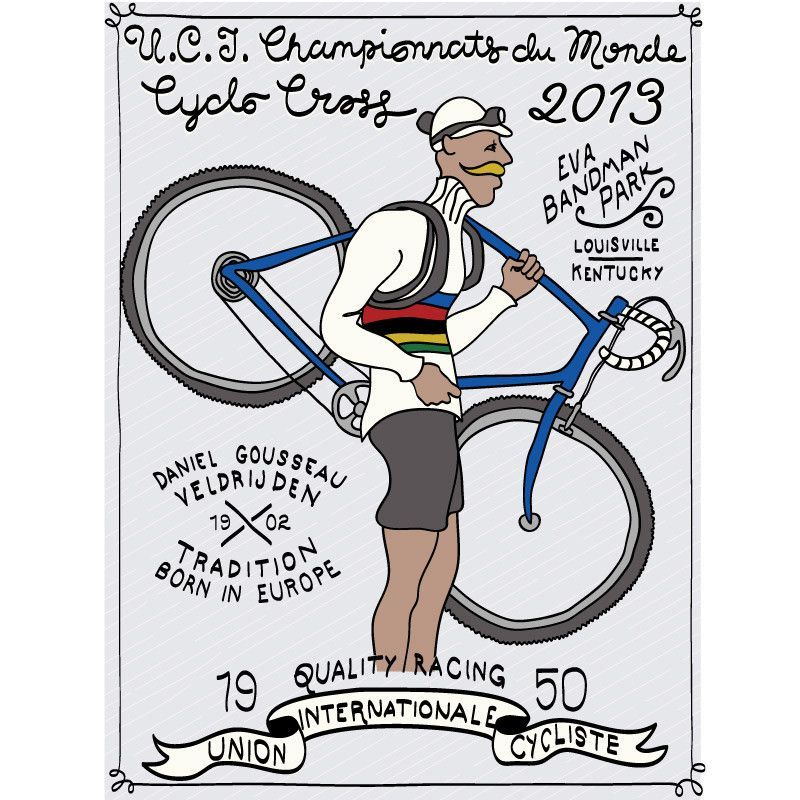 2013 cyclocross world championships poster cyclocross