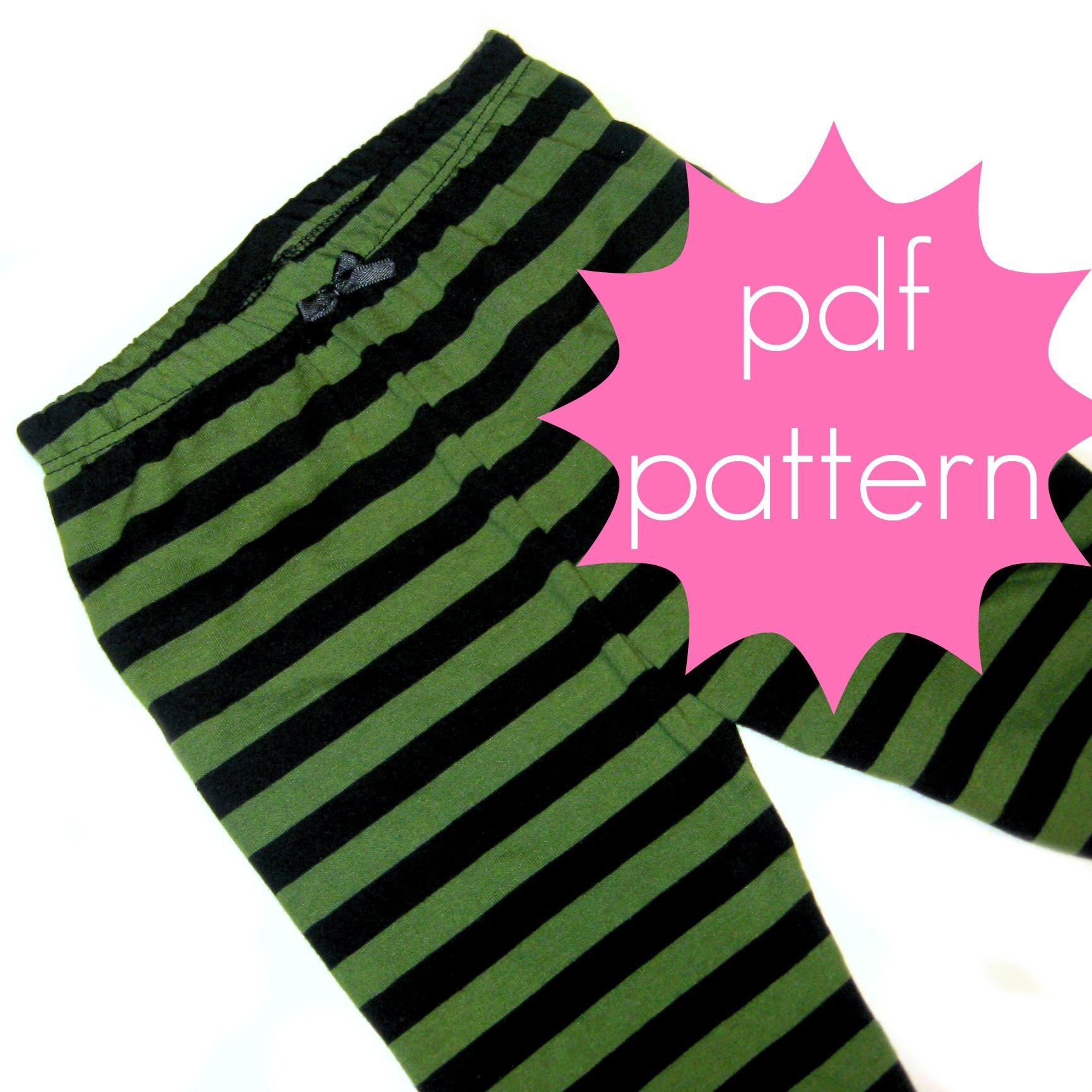 Diy Toddler Leggings - Basic knit leggings pdf sewing pattern nb 5t or 6 14 from