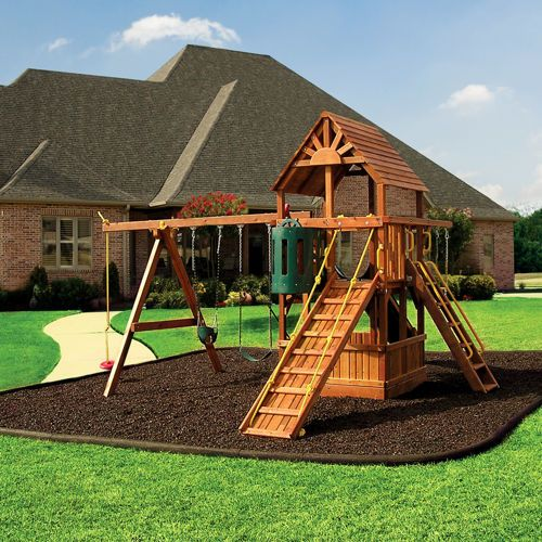 Rubberific Timber Playground Borders Backyard Playground Playground Mulch Playground Design