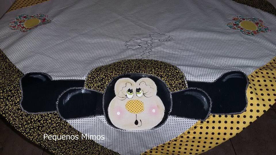 toalha de mesa de abelha