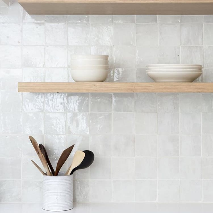 Timber And White Our Dream Combination We Also Have A Thing For These 100x100 Tiles Kitchen Wall Tiles Interior Design Kitchen Kitchen Tiles Backsplash
