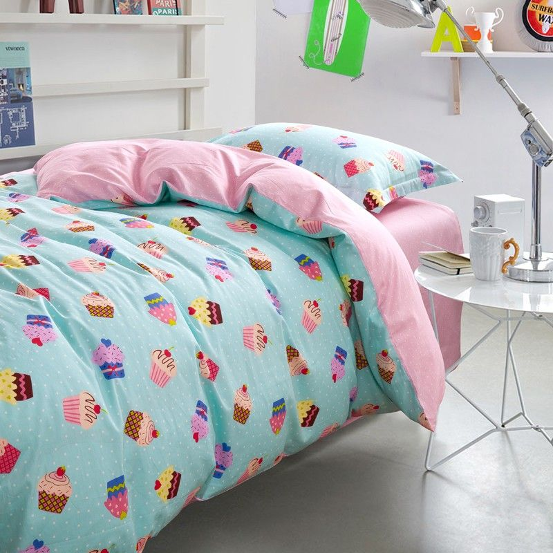Ice cream print bedding set twin size for single bed 100
