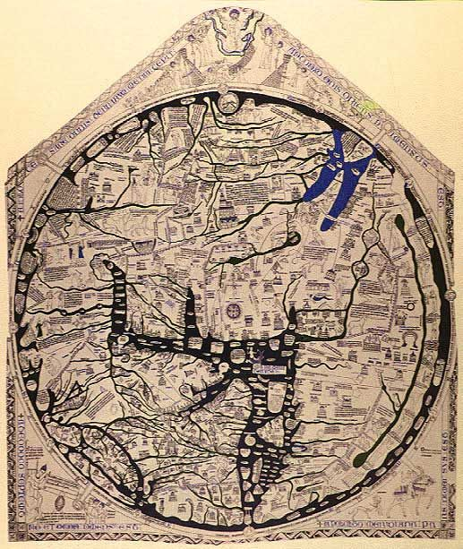 English map of the world with jerusalem at the center c 1300 english map of the world with jerusalem at the center c 1300 gumiabroncs Choice Image