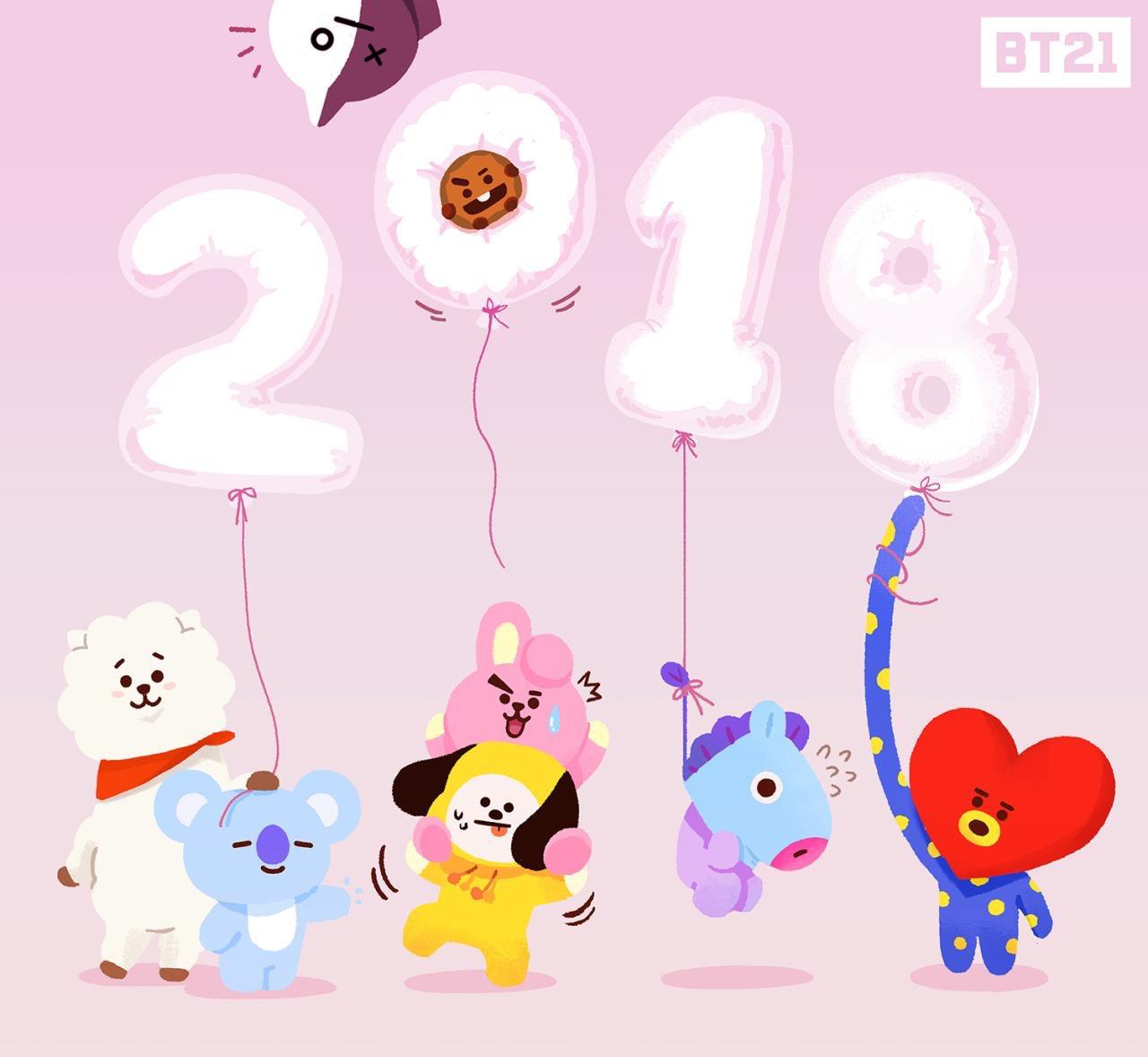 Bts 防弾少年団 Bt21 Happy New Year 2018 Bts 防弾少年団