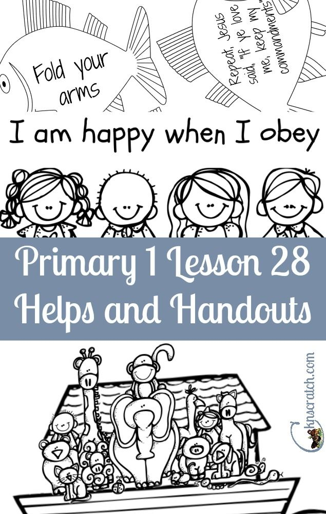 Lesson 28 I Can Be Obedient Lds Primary Lessons Preschool