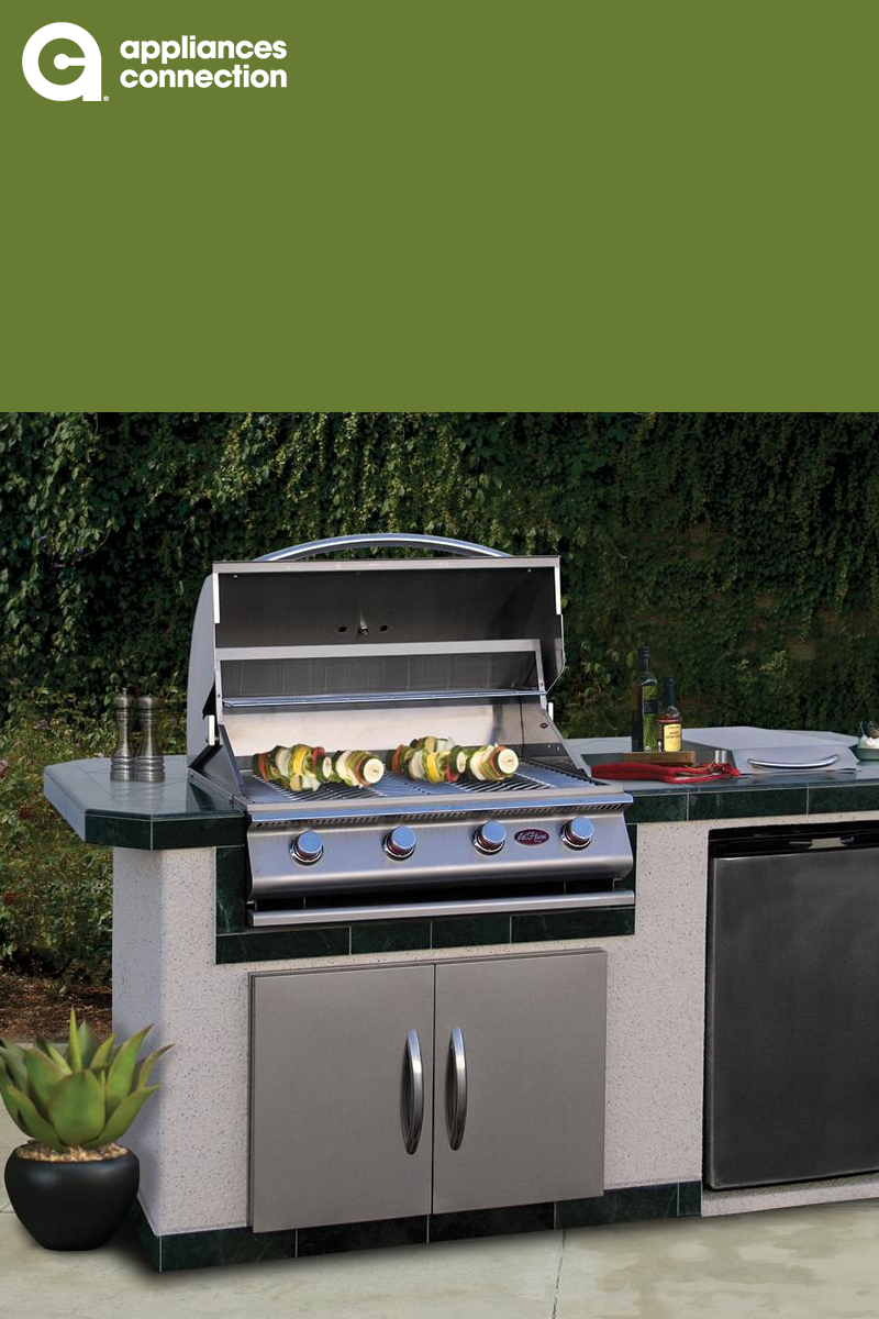 Lbk710 Bbq Island With 4 Burner Liquid Propane P4 Grill Side Burner Stainless Steel Refrigerator And 30 Doub Outdoor Kitchen Island Cal Flame Cooking Design