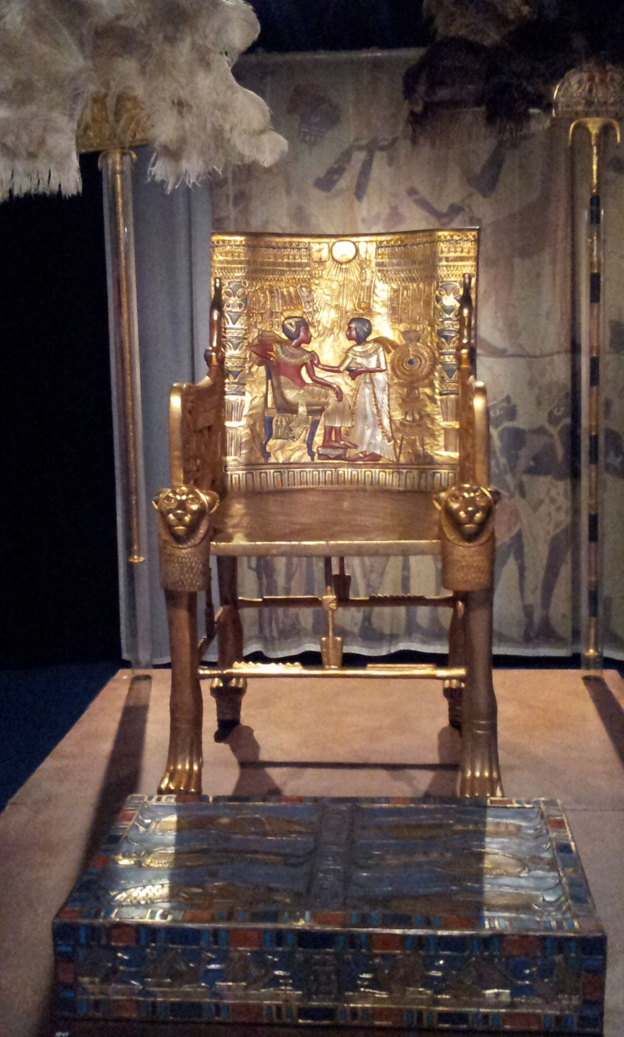 golden chair detail