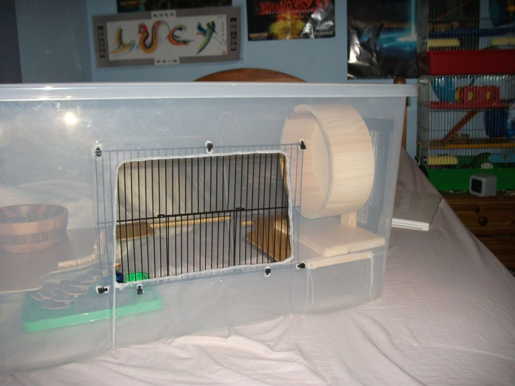 Plastic Bin Hamster Cage & Easy Hamster Bin / Box Cage | Hamster cages Animal cage and Animal