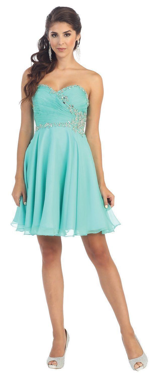 Short Sweetheart Chiffon Sassy Prom Formal Party Dress   Products ...