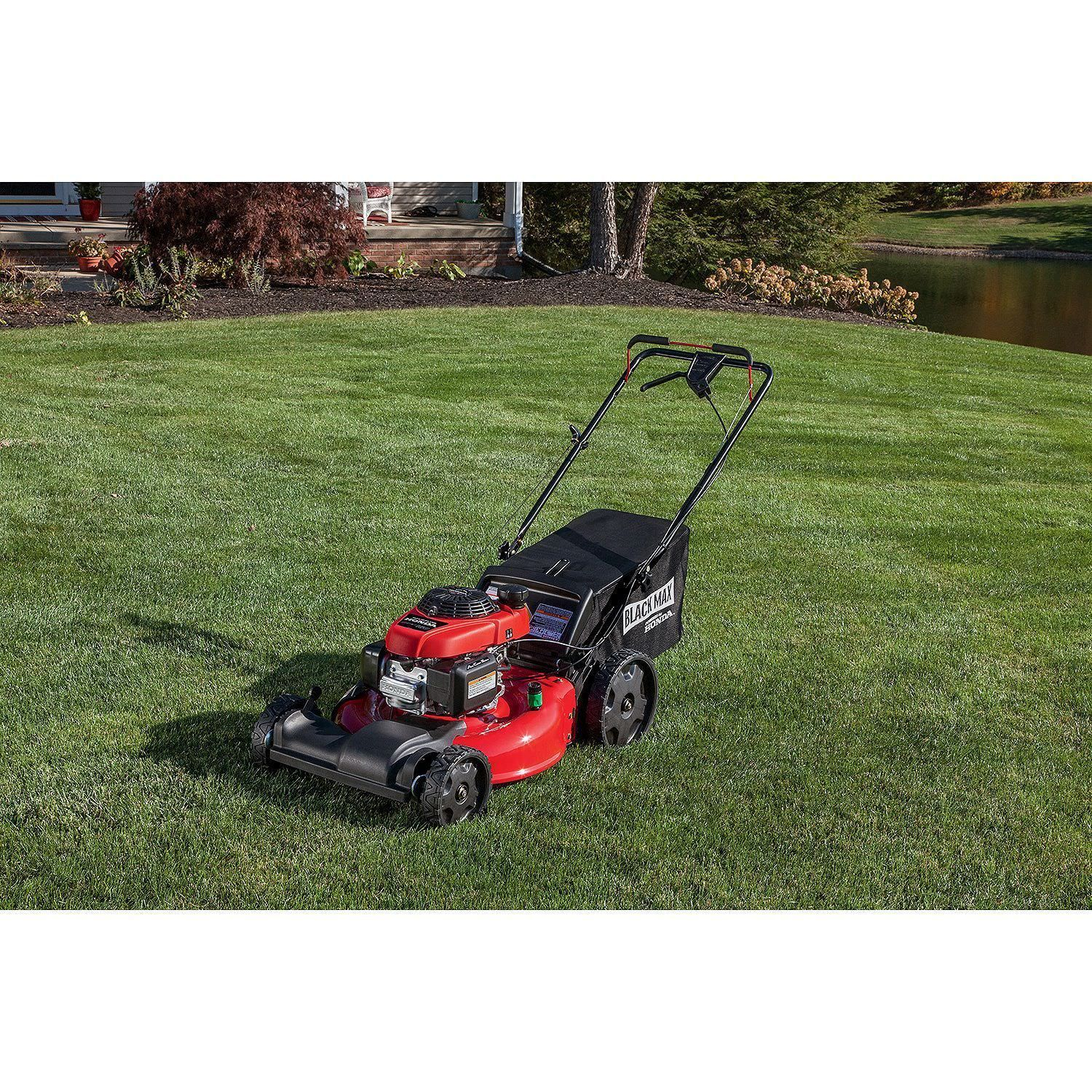 Black Max 21 Inch 160cc Front Wheel Drive Walk Behind Mower Powered By Honda 756250426656 Ebay Honda Sales Walk Behind Mower Mower