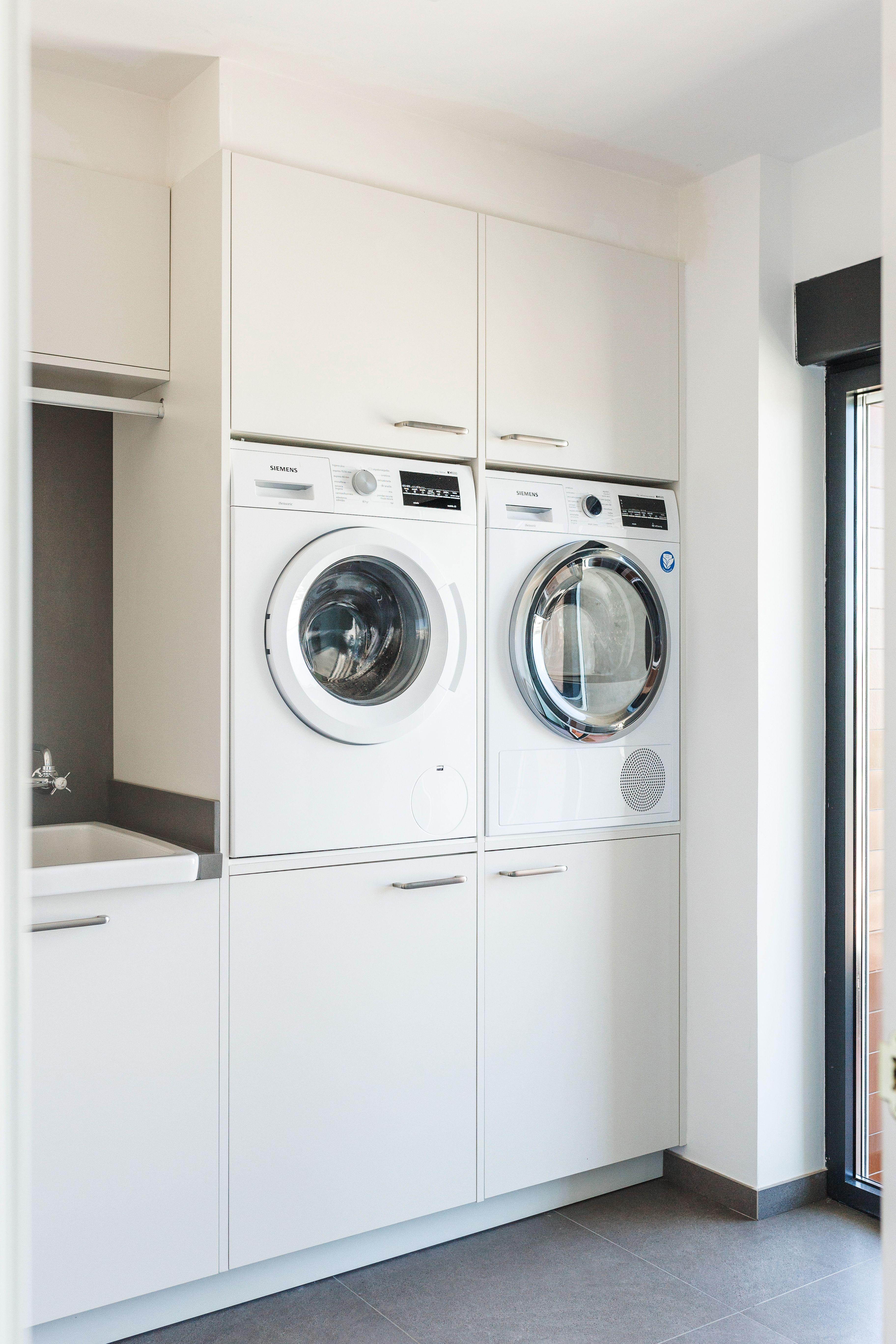 Estos prácticos muebles para colocar la lavadora y la ...