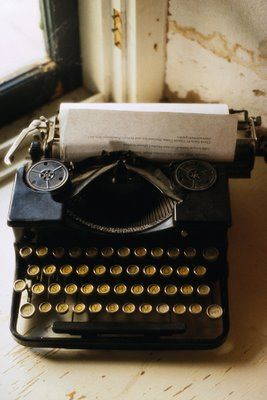 Vintage typewriter for guest book