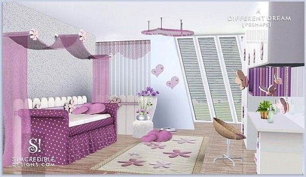 A different dream room for girls by SIMcredible! Designs 3