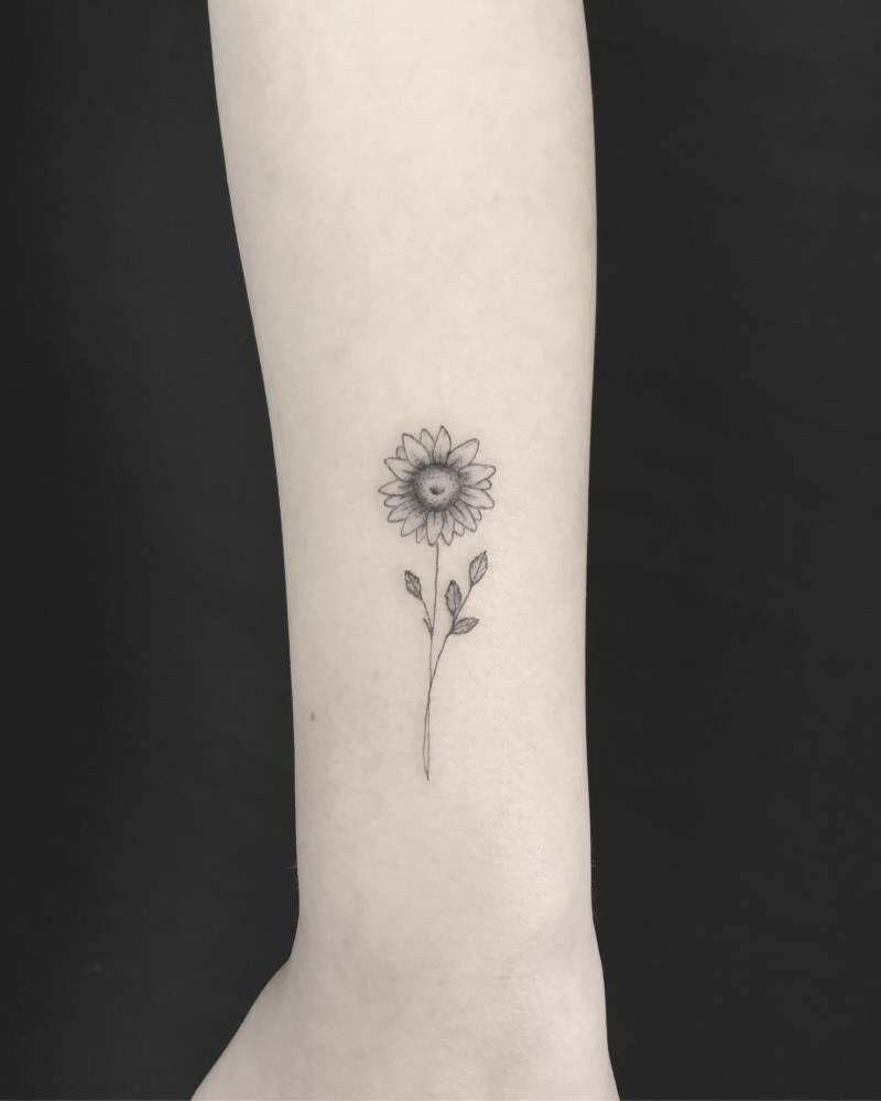 Tattoo Sunflower Tattoo Sunflower Tattoo Simple Sunflower Tattoos