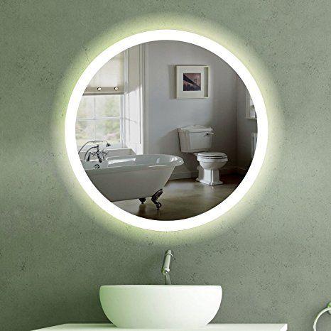 60 Cm Runder Wandspiegel Mit Led Beleuchtung Fur Badezimmer Und