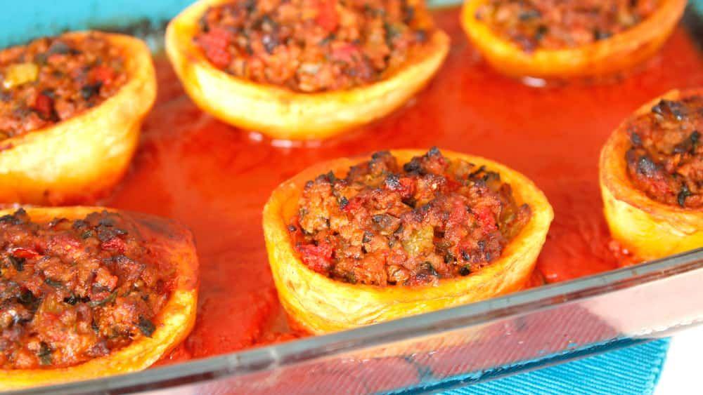Stuffed Potatoes With Ground Beef Recipe Recipes Making Ground Beef Recipes Beef Recipes Recipes