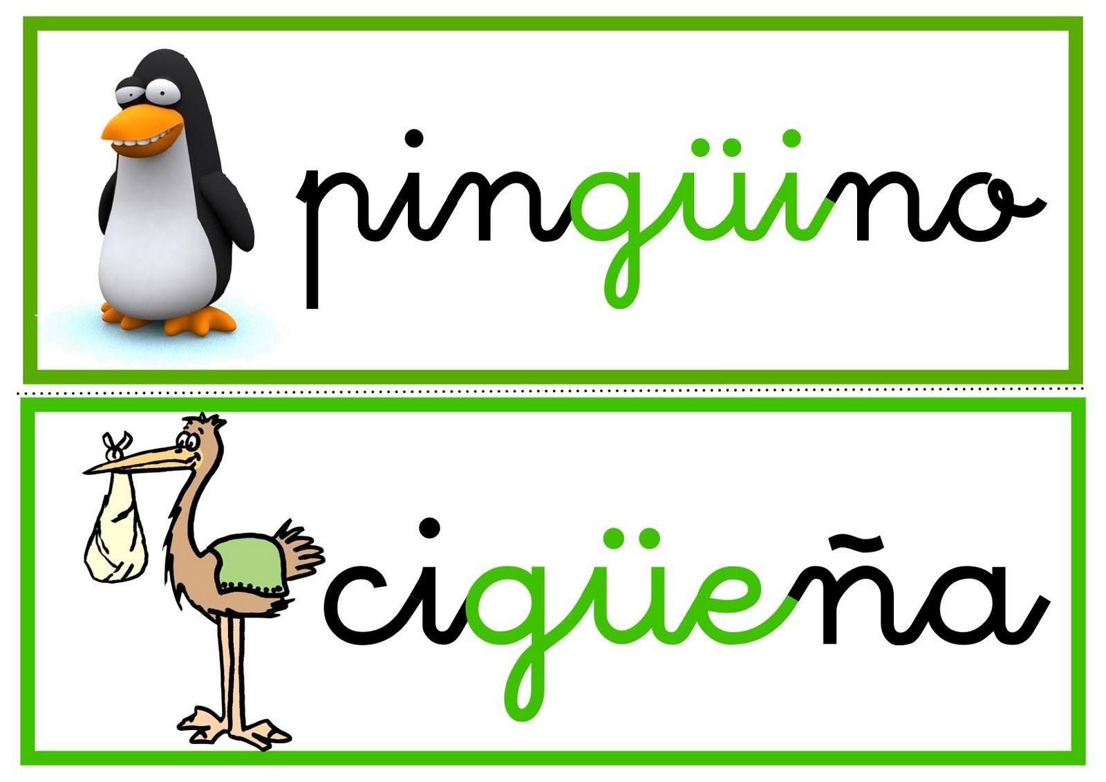 La Diéresis Ejemplos Lectura De Palabras Palabras Con Gue Gui Ortografía
