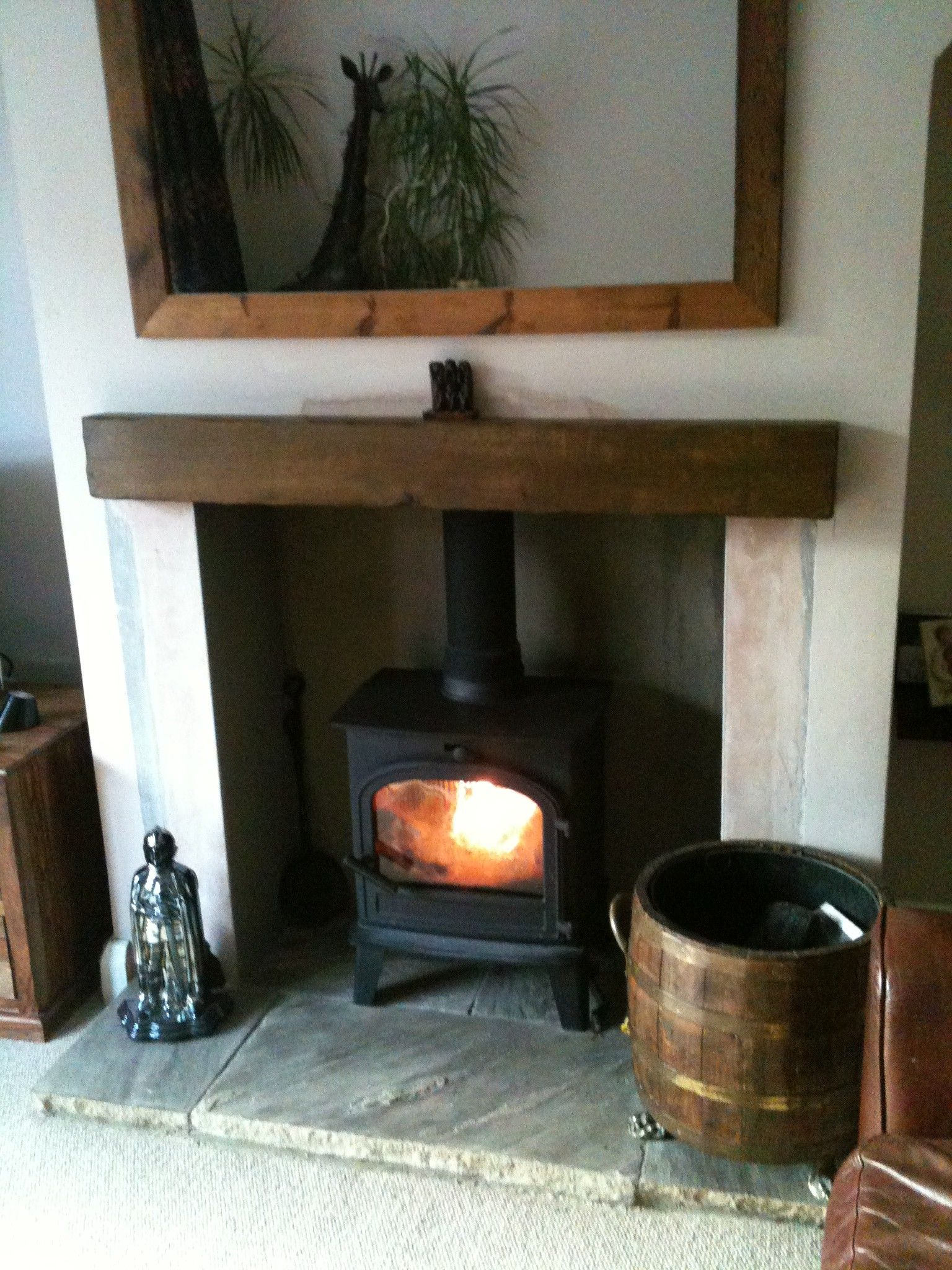 Stone For Hearth On Fireplace
