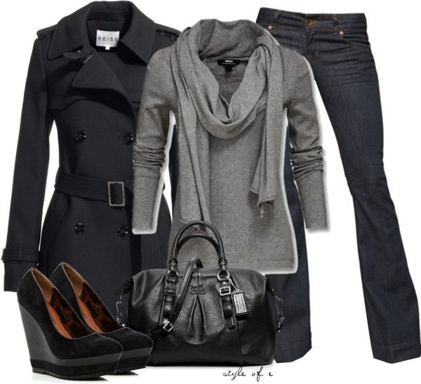 """""""Black and Gray"""" by styleofe on Polyvore"""