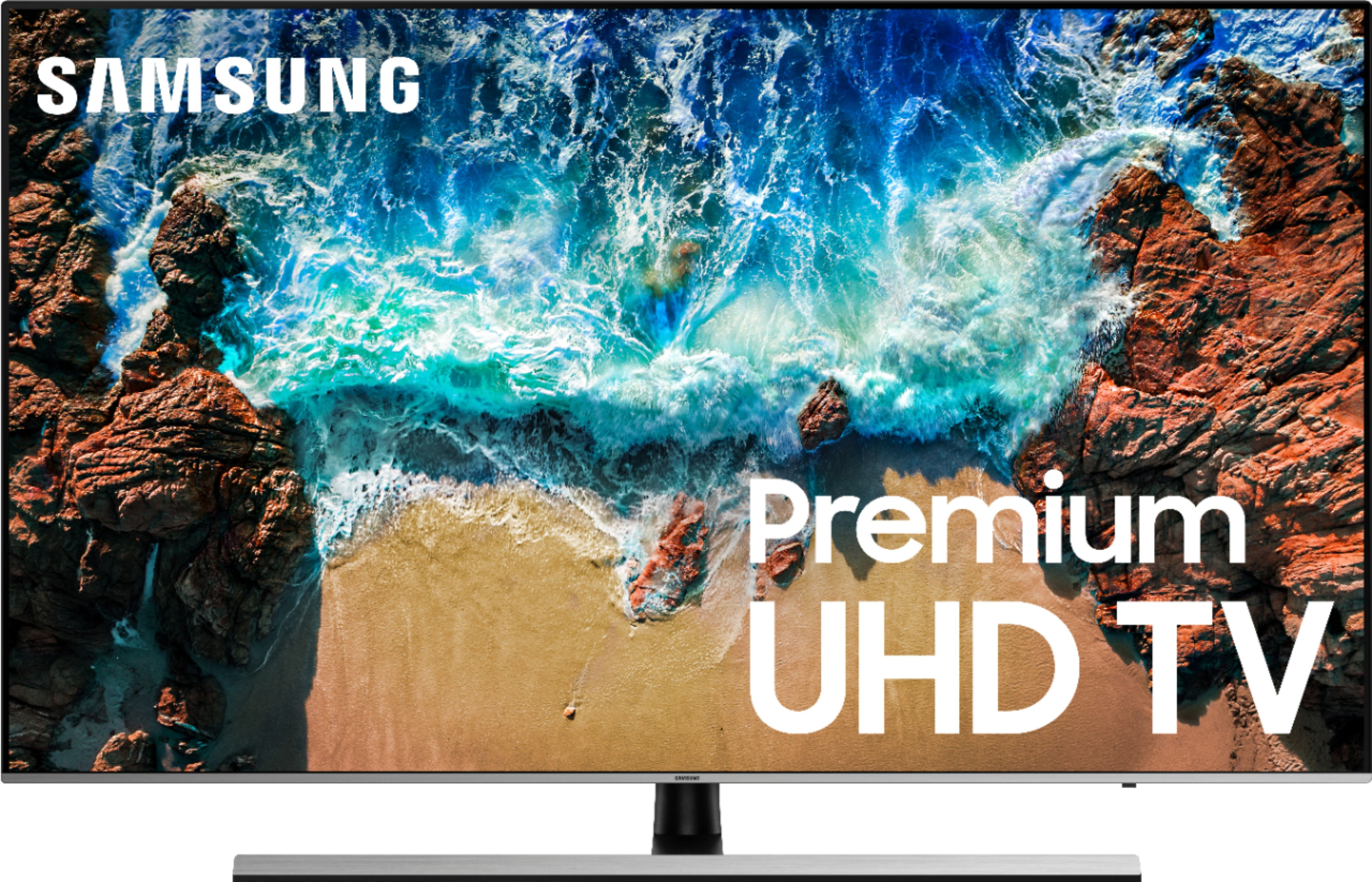 """Samsung 55"""" LED NU8000 Series 2160p Smart 4K UHD TV with HDR r Front"""