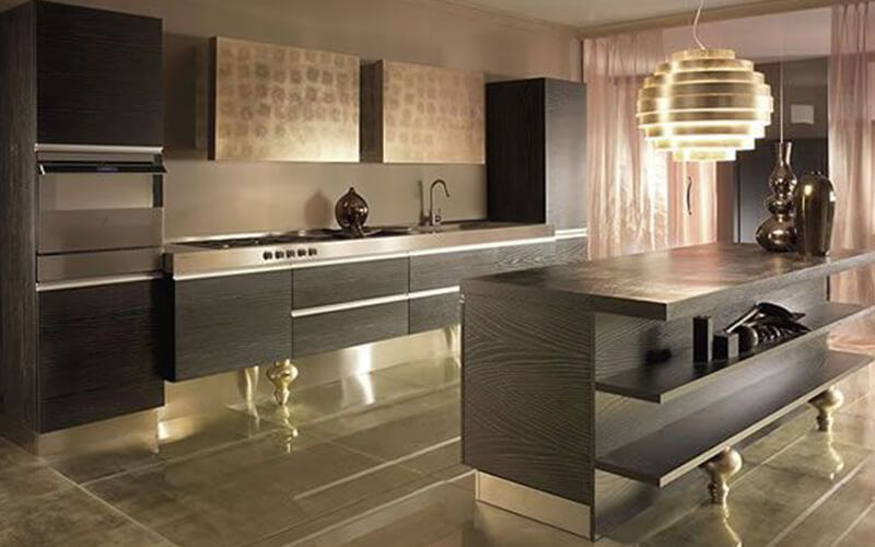 Kitchen:Malaysia Modern Design Kitchen Kabinet With Bamboo Cabinets ...