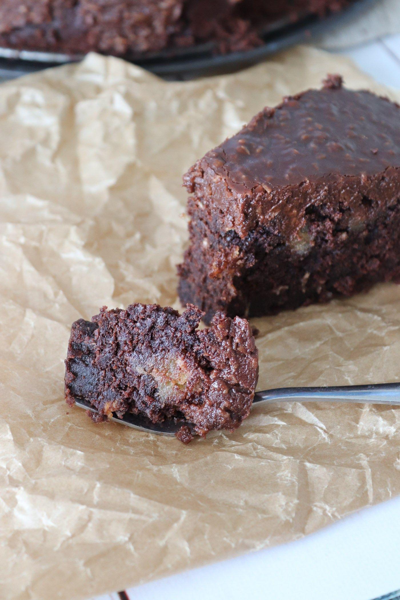 Himmelsk Chokoladekage Med Kokos Chokoladetopping Med Billeder Mad