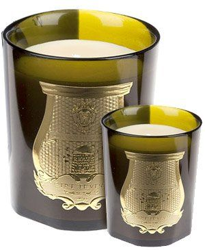 Transport yourself to the rolling Glens of the Highlands with this candle in a hand-blown glass case (blend of foliage, cut grass, mint, musk and pine wood) - Cire Trudon
