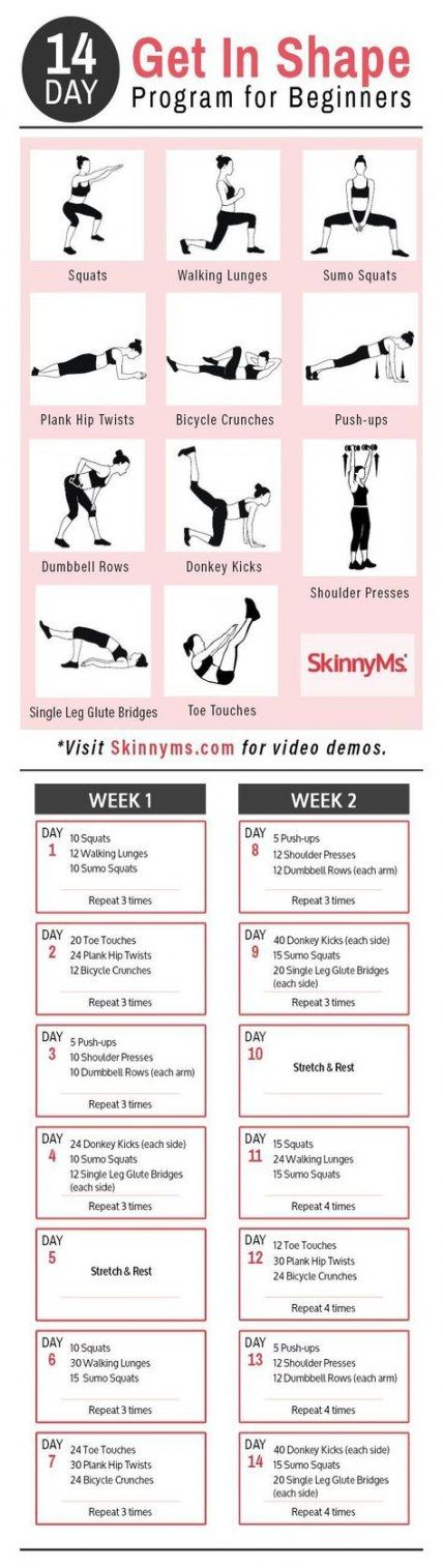 Trendy Fitness Workouts For Beginners Shape Healthy 62 Ideas #fitness