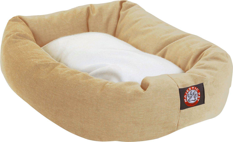 Majestic Pet Sherpa Bagel Dog Bed Green 52 In Chewy Com Dog Bed Majestic Pet Bolster Dog Bed